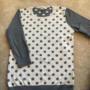 Gray & TanPolka Dot Sweater Sz M